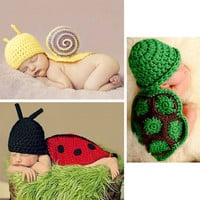 1PC Newborn Baby Infant Knitted Hat Outfit Costume Photo Photography Prop