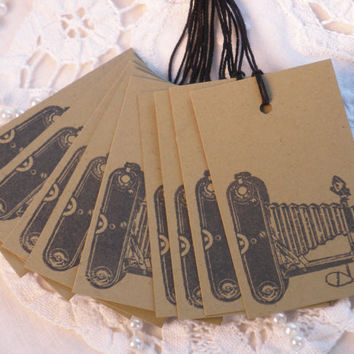 Vintage Inspired Camera Kraft Tags Set of 10