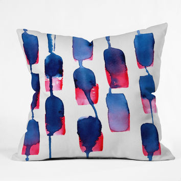 CMYKaren Color Run Throw Pillow