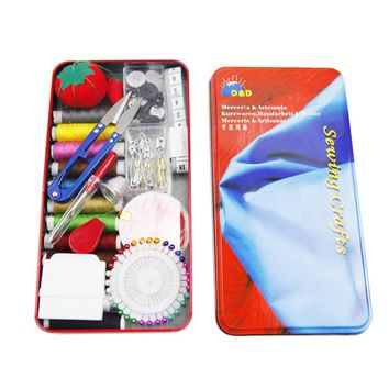 Sewing Box Set Household Sewing Kit Manual Sewing Supplies Kit Needle and Thread Hand Measure Tape Scissors Sewing Tools