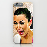 Funny Cute Ugly Crying face iPhone & iPod Case by Greenlight8
