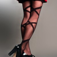 Woven Sheer Thigh-High Stockings - Over Knees & Thigh-Highs - Socks & Legwear