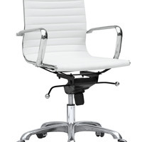 Lider Conference Office Chair Mid Back White