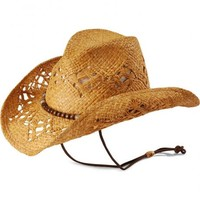 Kenny Chesney Wood Bead Open Weave Straw Cowboy Hat - Sheplers