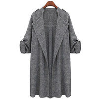 Fashion Women Autumn Suit Blazers Female Long Sleeve Coat Leisure Style Plus SIze XL-XXXXXL = 1667746436