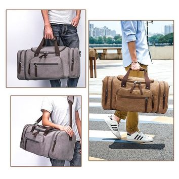 Men's Carry-On Canvas Travel Duffel Bag