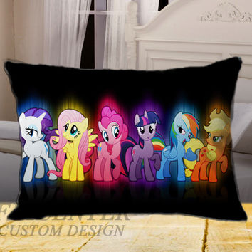 Cute My Little Pony Ponies Glow Picture on Rectangle Pillow Cover