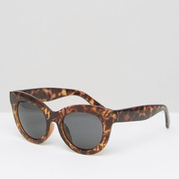 Cheap Monday Oversized Cat Eye Sunglasses in Tortoise