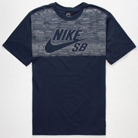 Nike Sb Dri-Fit Woodgrain Reflective Mens T-Shirt Navy  In Sizes
