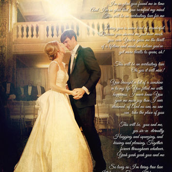 Wedding Anniversary Photo First Dance Song Lyrics Photo Art Custom Photo Editing