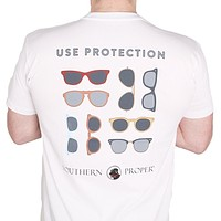 Use Protection Tee in White by Southern Proper - FINAL SALE