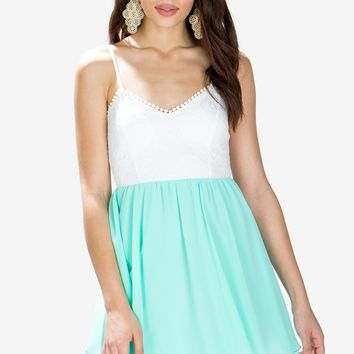 Lydia Lace Chiffon Dress