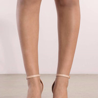 Penelope Feather Trim Heels
