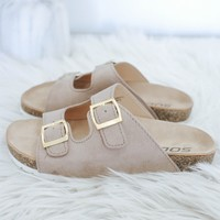 Girls Little Birk Sandal - Taupe