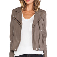 IRO Tara Moto Jacket in Brown