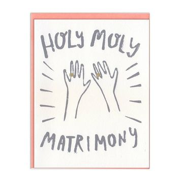 Holy Moly Matrimony Card