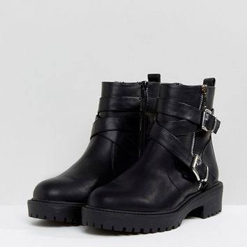 ASOS ACCESS Biker Boots in Water Based PU at asos.com