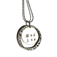 Sterling Stamped Pendant