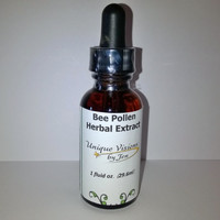 Bee Pollen Herbal Extract, 1 fluid ounce, Good for Nutritional Benefits, Holistic Health, Natural, Unique Visions by Jen