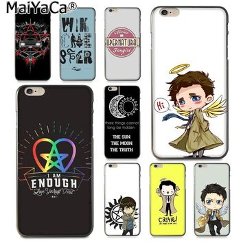 MaiYaCa Cool Supernatural tv logo New Arrival Fashion phone case cover for Apple iPhone 8 7 6 6S Plus X 5 5S SE XS XR XS MAX
