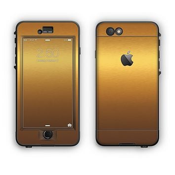 The Gold Shimmer Surface Apple iPhone 6 LifeProof Nuud Case Skin Set