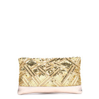 Delia Clutch Gold Nappa