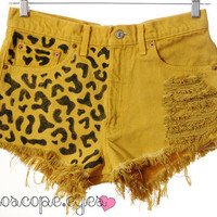 Vintage Levis LEOPARD Print Dyed Denim High by kaleidoscopeeyesvtg