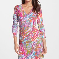 Women's Lilly Pulitzer 'Christie' Print V-Neck Shift Dress