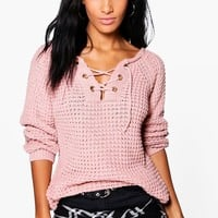 Erin Lace Up Jumper
