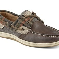 Koifish Wool Plaid Boat Shoe