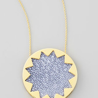 Sunburst Pendant Necklace, Blue Star