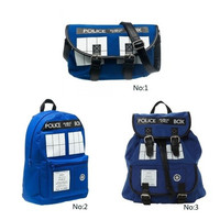 3 style Dr. Who Tardis Backpack Buckle Slouch Doctor Who Tardis bag backpack School bags for Teenagers AA0279SZYBKJ
