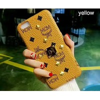 MCM Fashion Trend for iPhone 6/7/8/X Phone Case Cover F-OF-SJK Yellow
