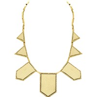 House of Harlow 1960 Jewelry Leather Pave 5 Station Necklace