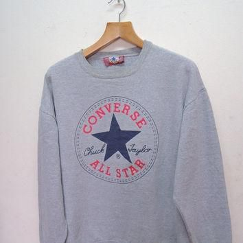 25% SALES ALERT Vintage 90's Converse All Star Chuck Taylor Sweatshirt Sport Street We