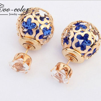New design elegant fashion Pierced crystal earings = 1838894212