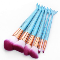 Makeup Brushes Rainbow Handle Mermaid Brush Set Makeup Foundation Blending Blush Powder Eyeshadow Lip Brush Make Up Brushes