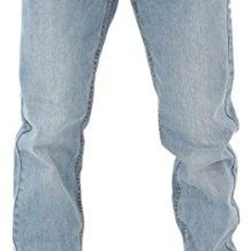 Rocawear Mens Boys Double R Star Relaxed Fit Hip Hop Jeans Is Money G Time SWB (W48 - L34, Stonewash Blue)