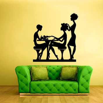 rvz1681 Wall Decal Vinyl Sticker Table Maniqure Make up Fashion Salon Hair