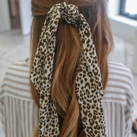 Wild About You Scrunchie Scarf - Ivory
