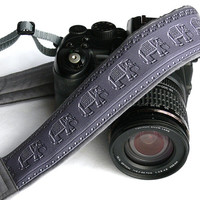 Elephants Camera Strap. Gray Camera Strap.  DSLR Camera Strap. Canon, Nikon Camera Strap. Animal Camera Strap. Christmas Gift. Accessories