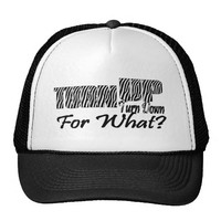 TURN UP TURN DOWN FOR WHAT TRUCKER HAT