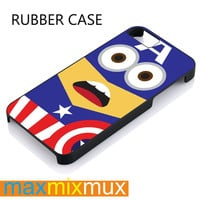 Despicable Me Captain America Minion iPhone 4/4S, 5/5S, 5C, 6/6 Plus Series Rubber Case