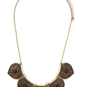 Etched Collar Necklace