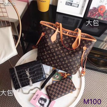 Christmas promotional discount 3 sets LV Gucci MCM Women Leather Shoulder Bag Satchel Tote Handbag