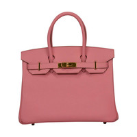 """New Color "" Hermès Birkin 30cm ""Rose Confetti"" Epsom Leather Gold Hardware"