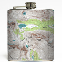 Off The Map - Topographical Map Flask