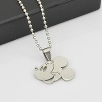 Mickey Mouse Pendant Cartoon Chain Fashion Stainless Metal