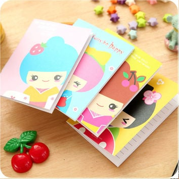 1 Pics Mini Cute Kawaii Japanese Girls Notepad Agenda Journal Planner Organizer School Supplies Stationery Notebooks