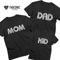 Mom Dad Baby Shirts, Mommy Daddy Baby Shirts, Mom dad shirts, Matching mom dad baby shirts, Matching mom dad shirts, Family Shirts